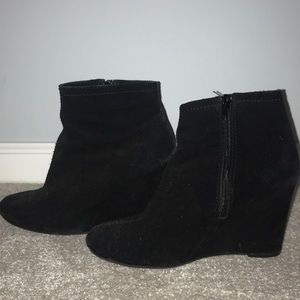 Black Wedge Bootie. Used in good condition